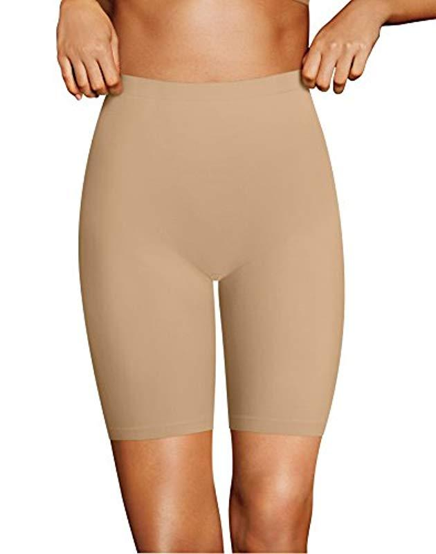 b6c2a6c059b Lyst - Maidenform Firm Foundations Stay Put High Waist Brief in Natural