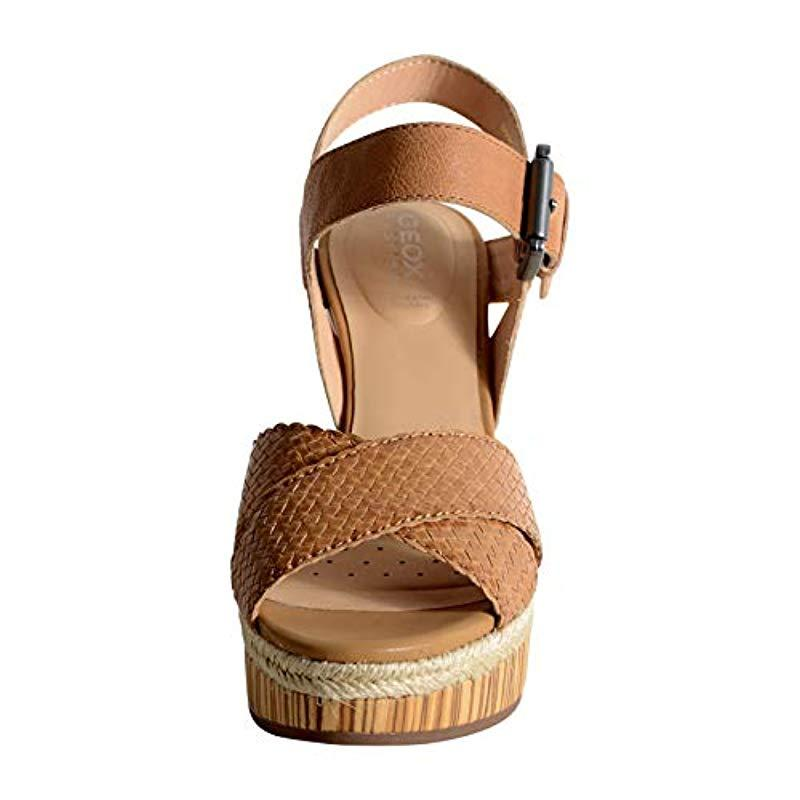 Geox  s D Yulimar C Open Toe Sandals in Brown - Lyst 0dc58e97c98