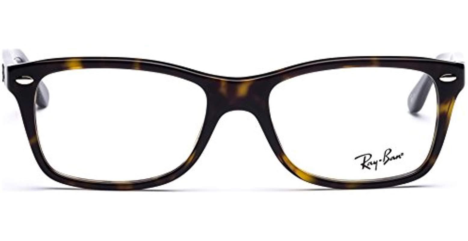 9fbfd7d936 Ray-Ban Rx5228 Glasses In Havana Brown Rx5228 5545 50 in Brown for ...