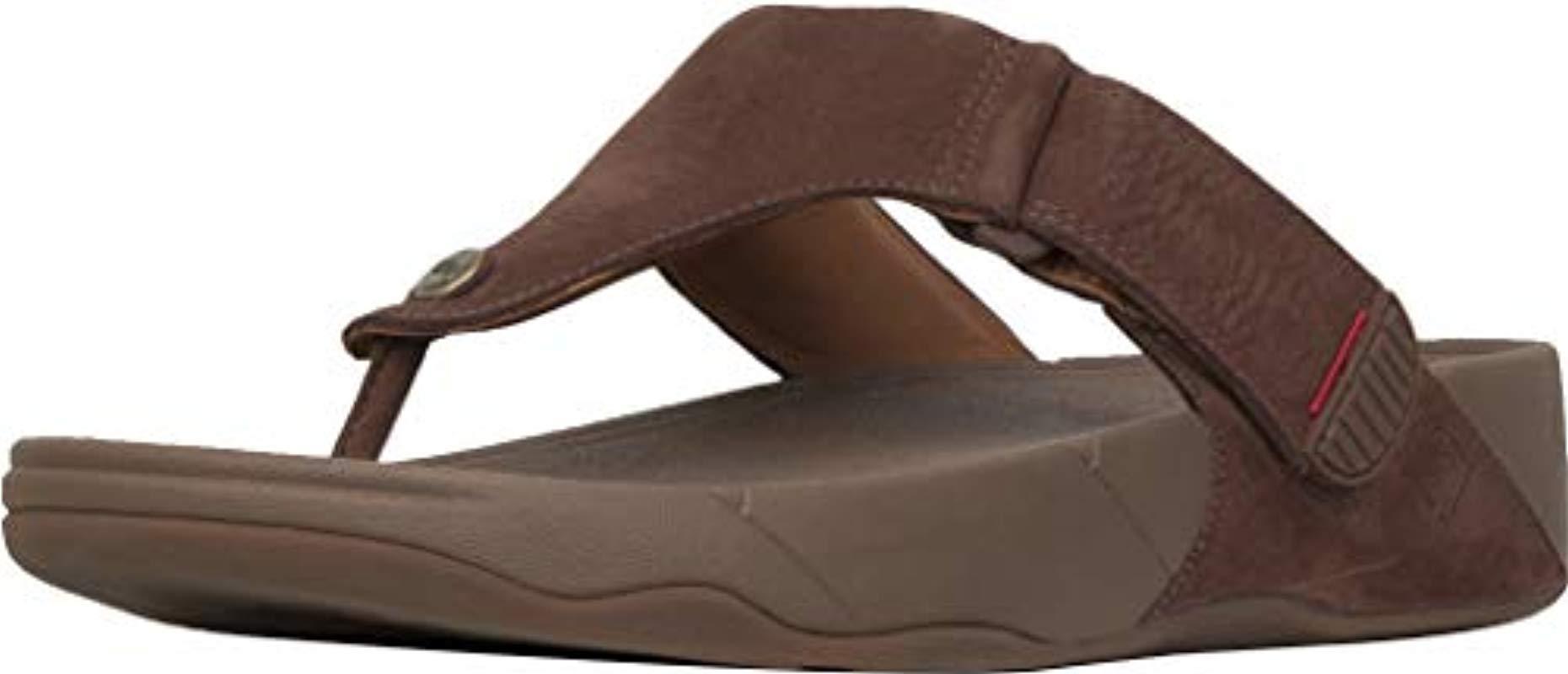 9fe1a6473 Fitflop Trakk Ii - Nubuck Flip Flops in Brown for Men - Lyst