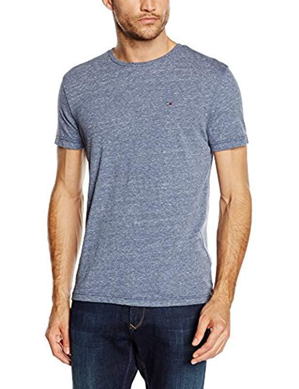 5753089b Tommy Hilfiger. Men's Blue Original Melange Crew Neck Short Sleeve T-shirt
