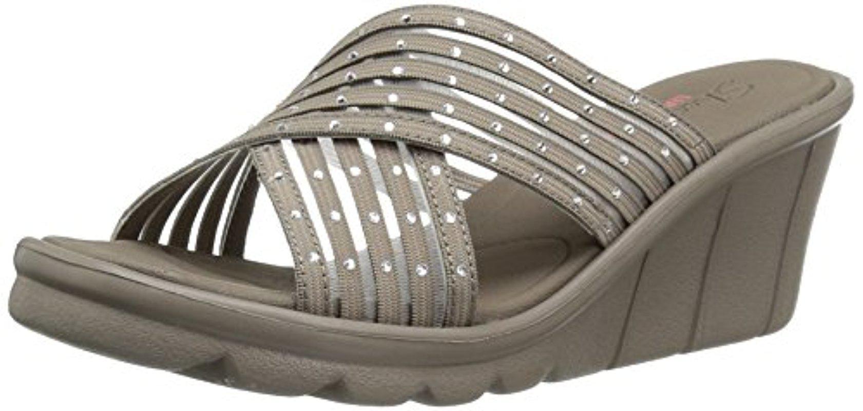 304082afeb55 Lyst - Skechers Cali Promenade Easy Go Wedge Sandal