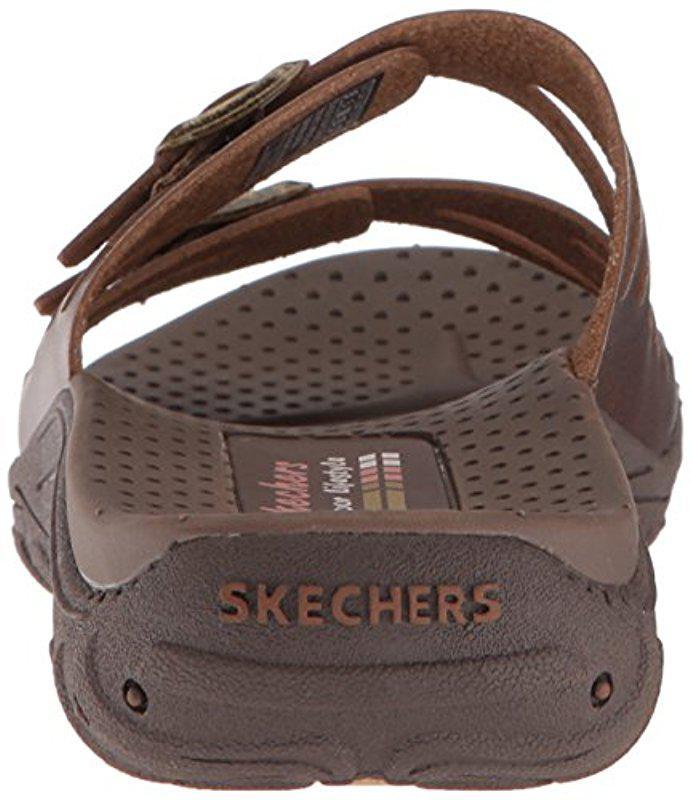 65f48143c6a Lyst - Skechers Reggae-moon Rock-double Buckle Slide Sandal
