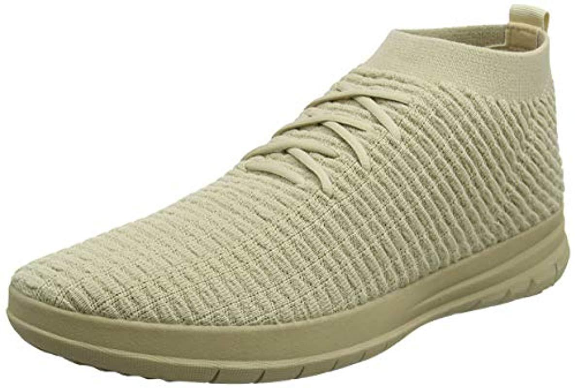 d101249c3d06 Fitflop Uberknit Slip-on High Top Sneaker Waffle Trainers in Natural ...
