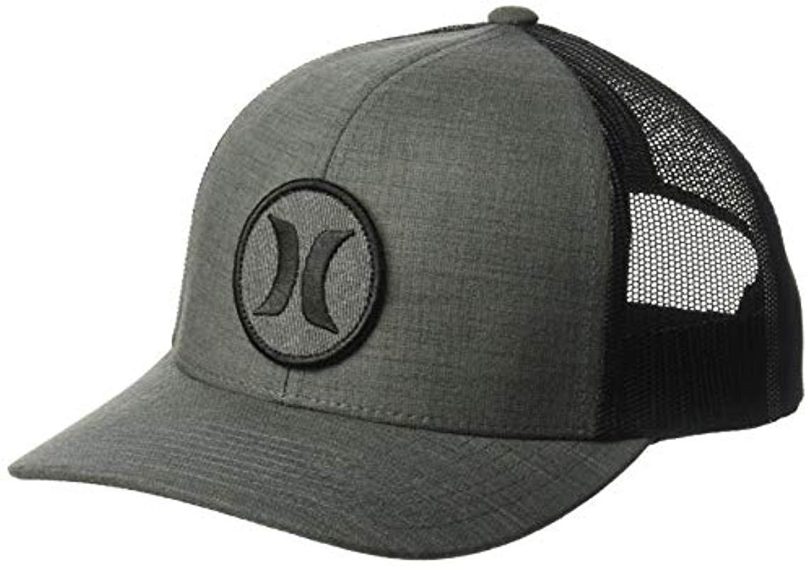 91743c070101c Lyst - Hurley Black Textures Patch Trucker Baseball Cap in Black for ...