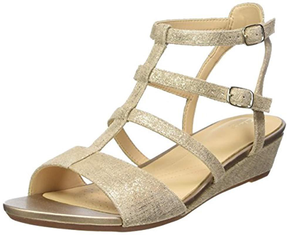 607aa2ed8e9 Clarks  s Parram Spice Gladiator Sandals in Metallic - Lyst