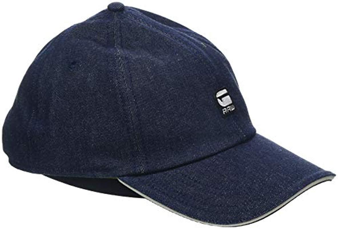 fa8204299c15d G-Star RAW Avernus Baseball Cap in Blue for Men - Lyst