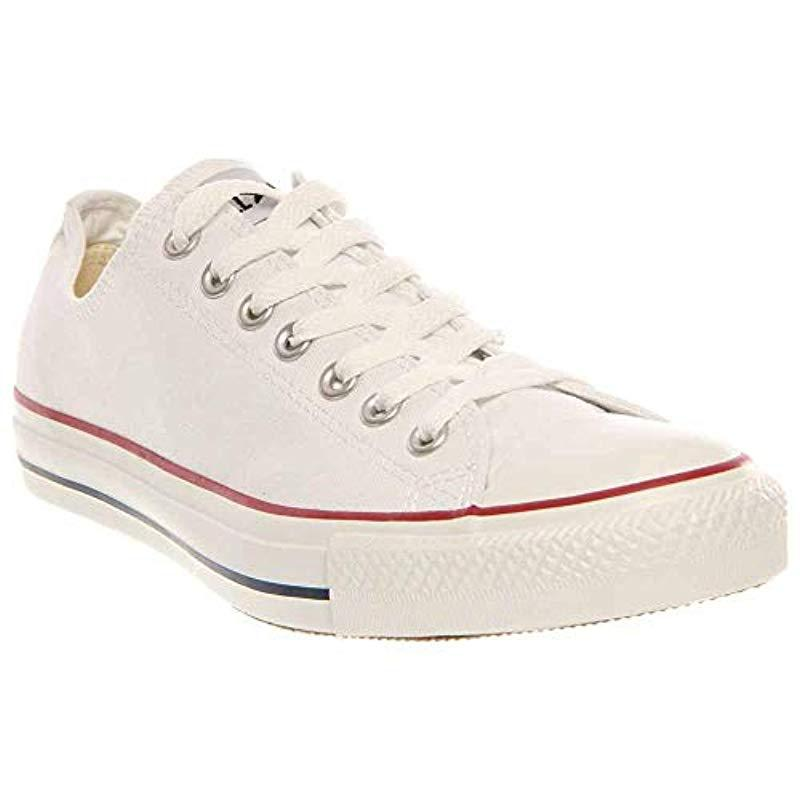 256c2d28394338 Converse. Unisex Chuck Taylor All Star Low Top Optical White Sneakers ...