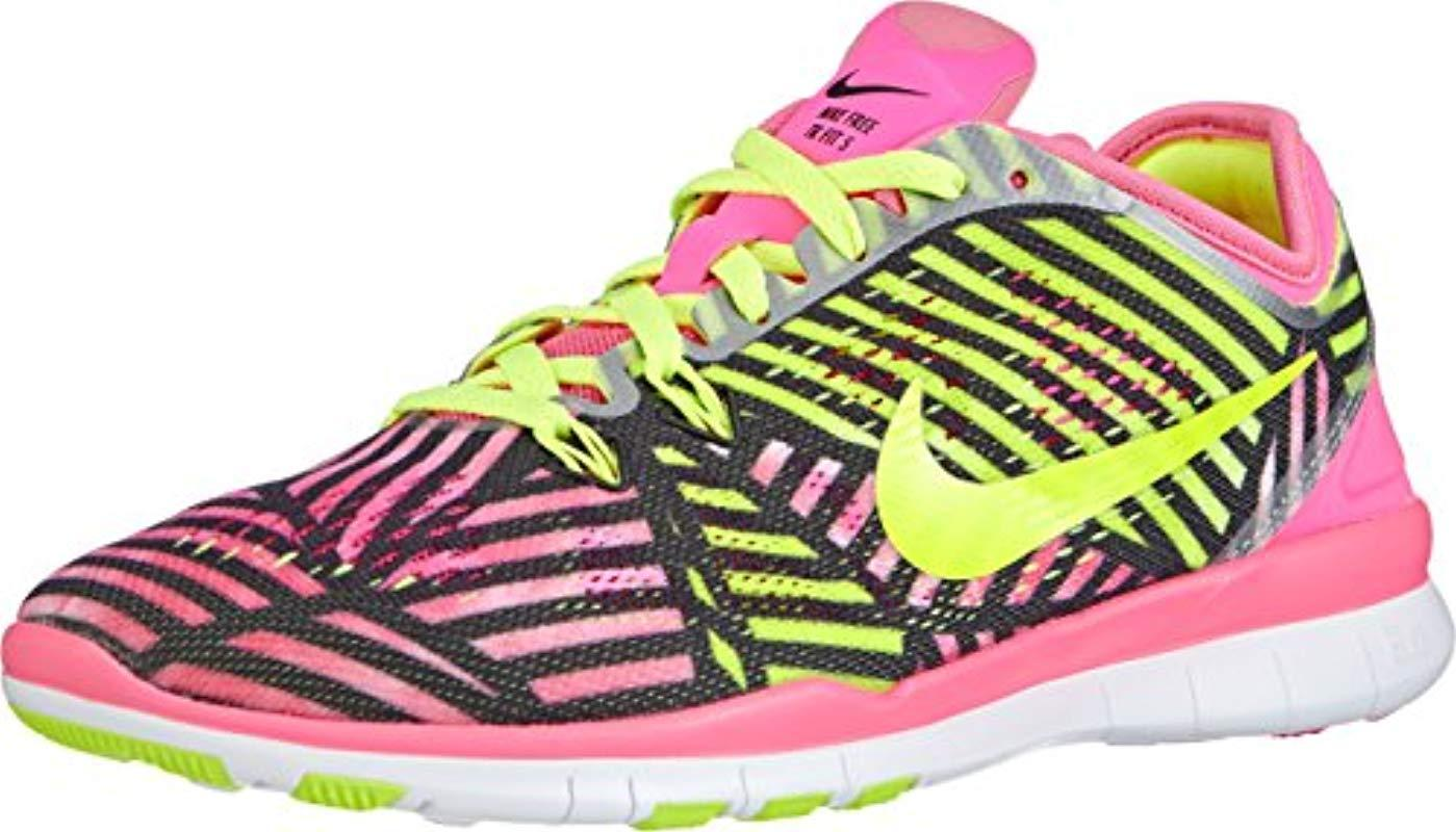 Nike Free Trainer 5 Print in Pink Lyst