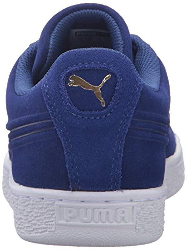 56a55fc91b2 PUMA - Blue Suede Classic Debossed Q3 Fashion Sneaker for Men - Lyst. View  fullscreen