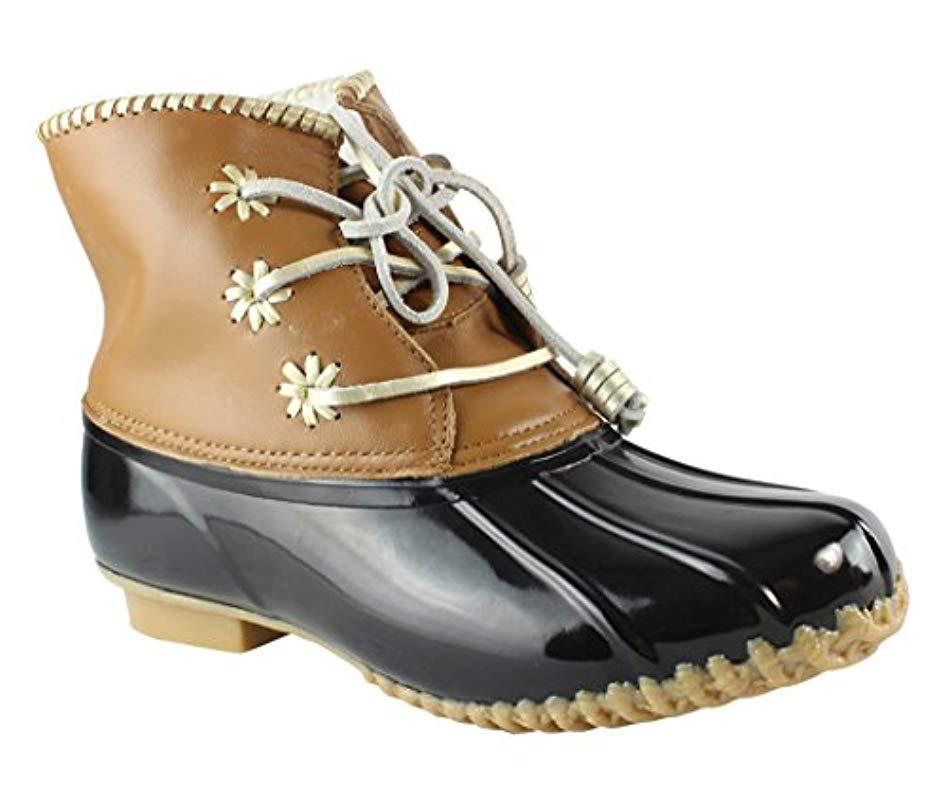 aa462d73d34 Lyst - Jack Rogers Chloe Classic Rain Boot in Black - Save 67%