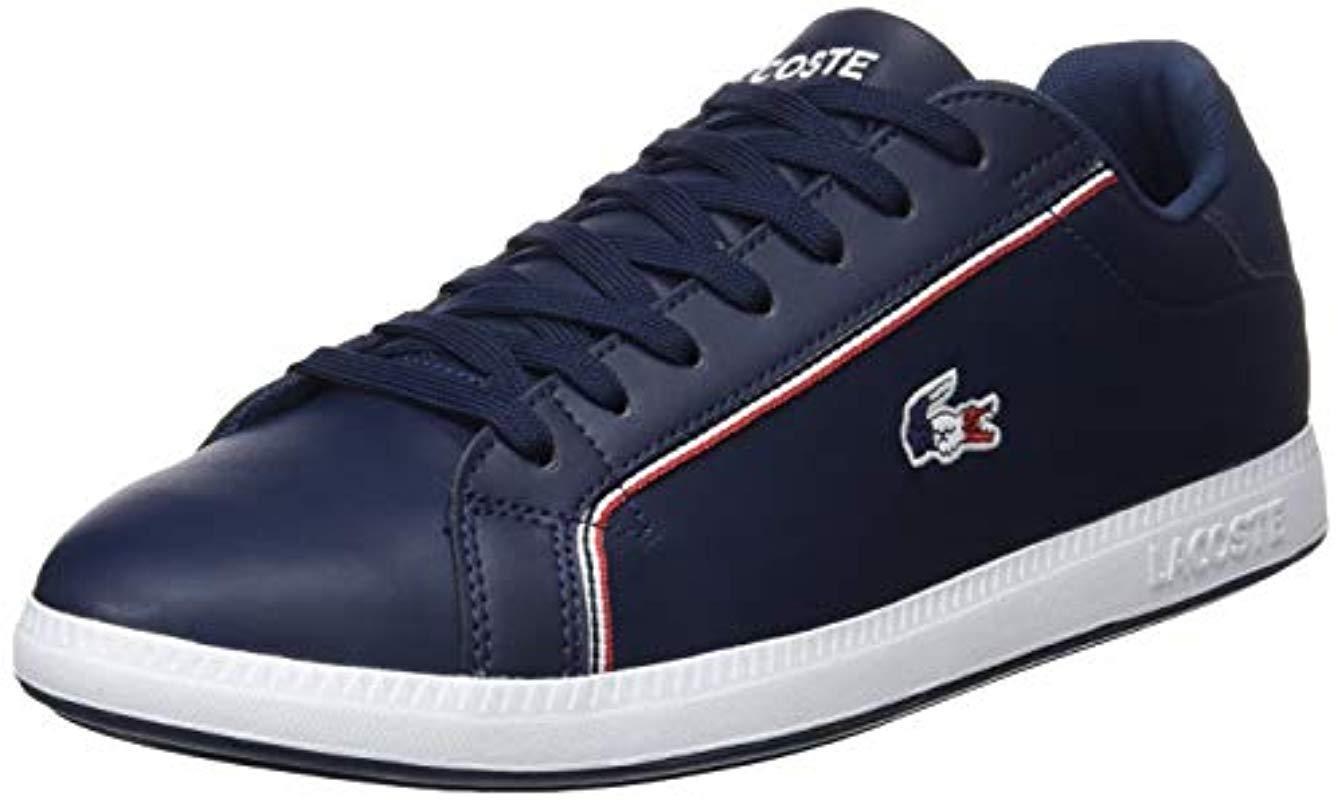 03c93ae05c471 Lacoste Graduate 119 3 Sma Trainers in Blue for Men - Lyst