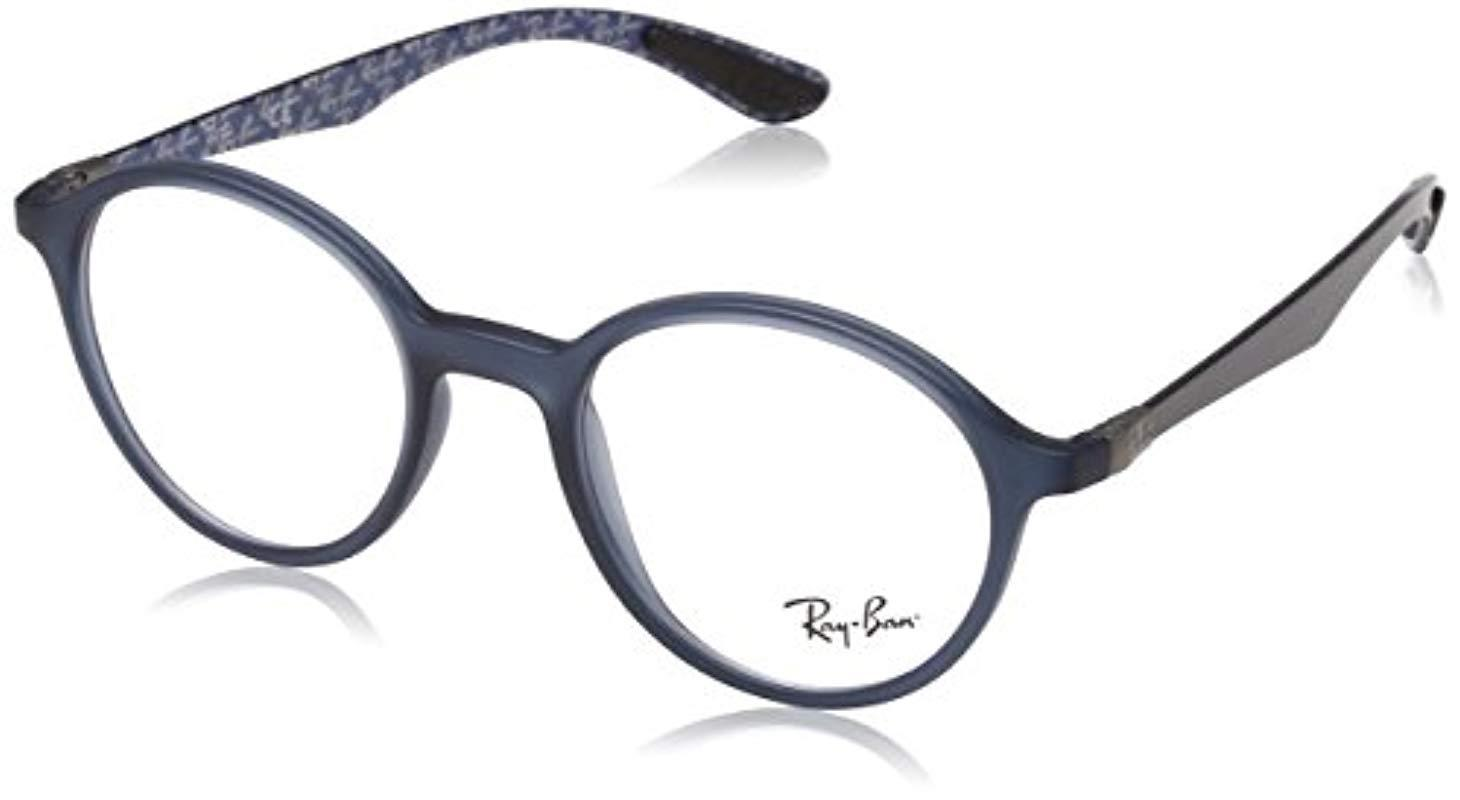 cd40acc09 Ray-Ban 's 0rx 8904 5262 50 Optical Frames, Blue (matte Blue) in ...