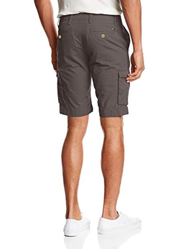 44280433 Tommy Hilfiger John Light Twill Shorts in Gray for Men - Lyst