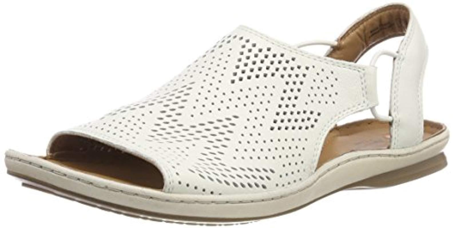 2afd5ac80b15 Clarks Sarla Cadence Closed Toe Sandals Black in White - Save 2% - Lyst