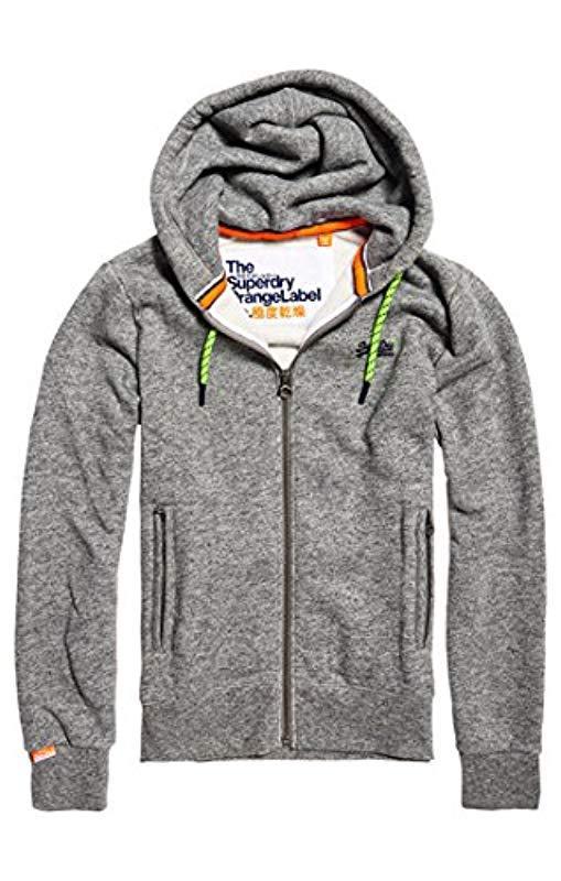 c8d6c7f53c Superdry 's Orange Label Pop Zip Hoodie Sweatshirt in Gray for Men ...