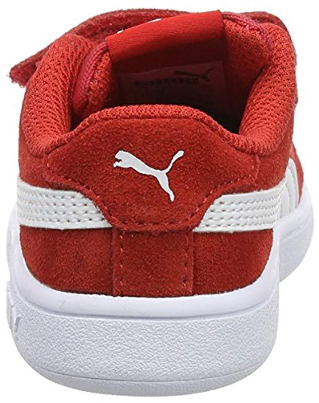 7fd1b1e7b2a360 Unisex In Lyst Smash Puma Sneakers Low Sd V Babies  Red Top V2 Inf b6Yfyv7g