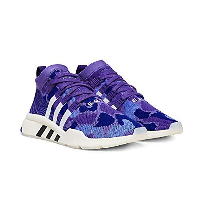 new concept 55818 950b5 ... authentic adidas purple eqt support mid adv pk fitness shoes for men  lyst. view fullscreen