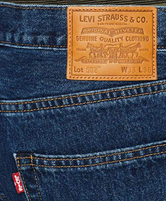 7859769d30a146 Levi's - Blue 502 Regular Tapered Fit Jeans for Men - Lyst. View fullscreen