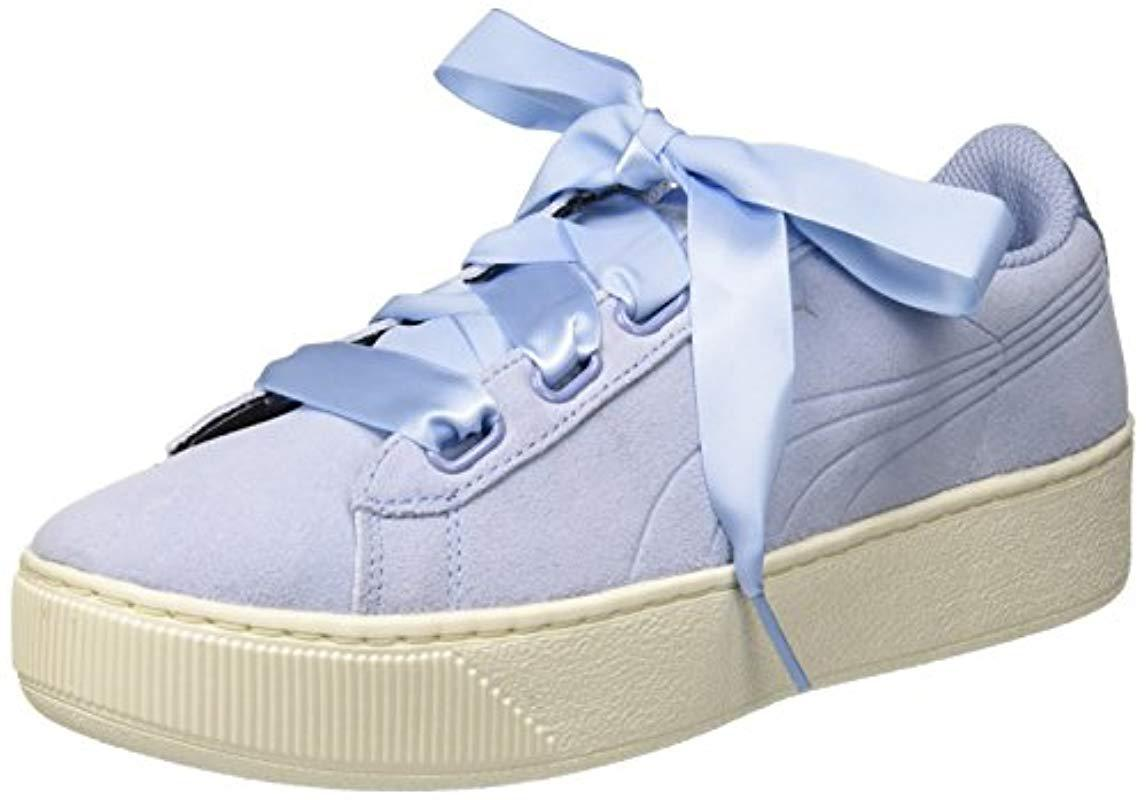 2f6f9fa88c9a PUMA Vikky Platform Ribbon S Low-top Sneakers in Blue - Save 50% - Lyst