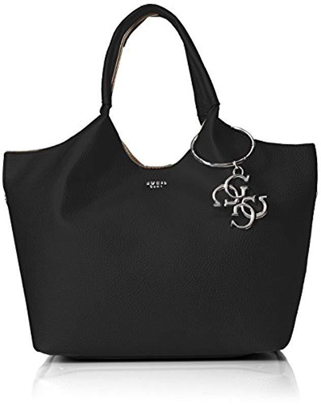 6cfc55113d4f Guess Flora Shopper Bla in Black - Lyst