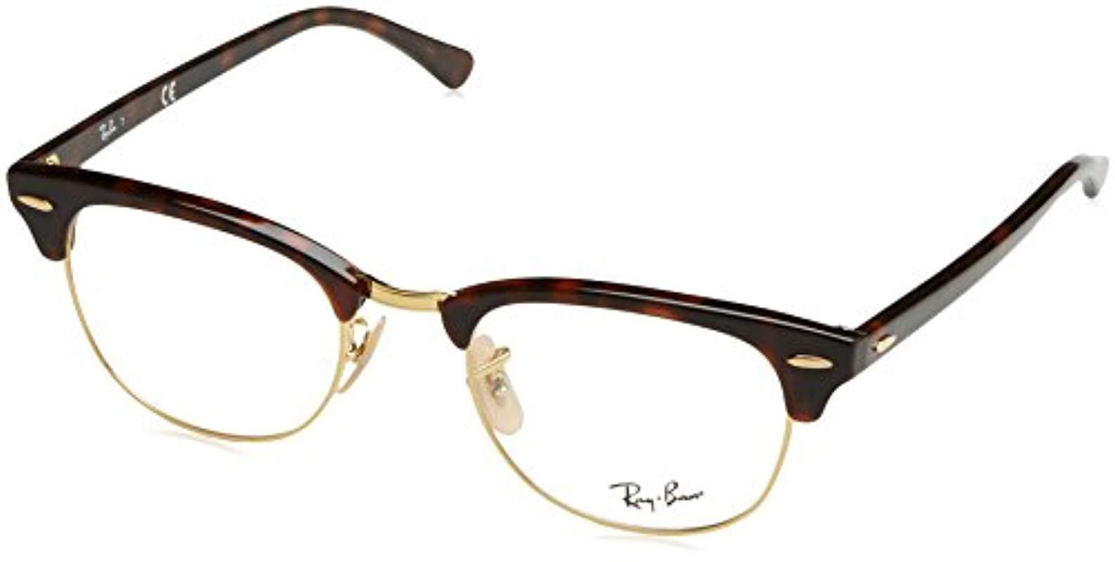 fce4449acf Ray-Ban Rx5154 Glasses In Brown Havana Rx5154 5494 49 in Brown - Lyst