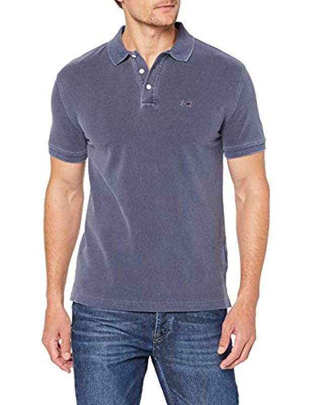 fb7595fb Tommy Hilfiger Tjm Essential Garment Dye Polo Shirt in Blue for Men ...