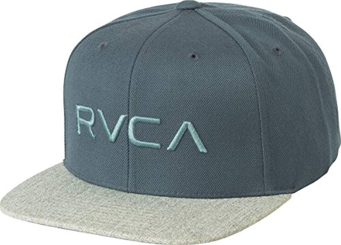 ec32b0d631bf4 ... discount lyst rvca twill snapback six panel trucker hat for men e3dd7  be93e