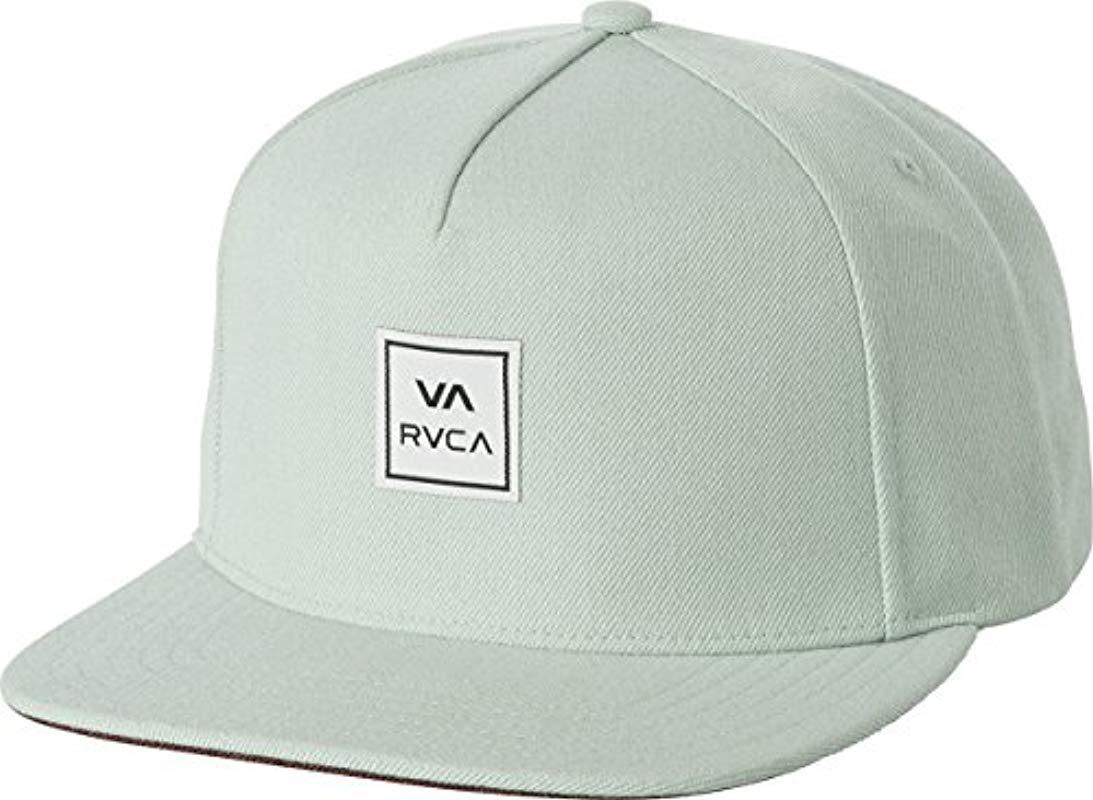 quality design 9467d 66c82 Lyst - RVCA Ensign Snapback Hat in Gray for Men