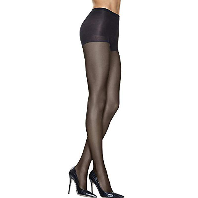 82ad0108577 Hanes. Women's Black Silk Reflections High Waist Control Top Sandalfoot  Pantyhose