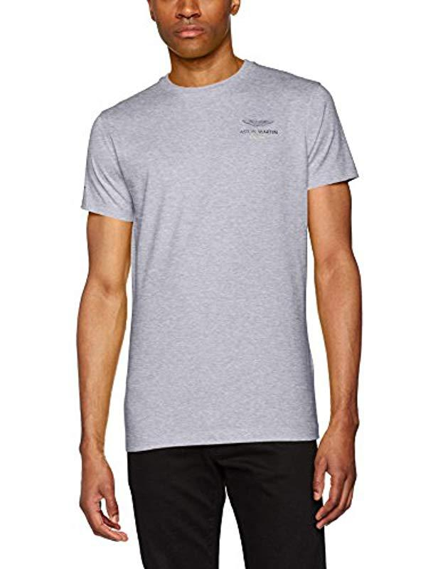 018236af5c0d Hackett Hackett Aston Martin Racing Logo Tee T-shirt in Gray for Men ...