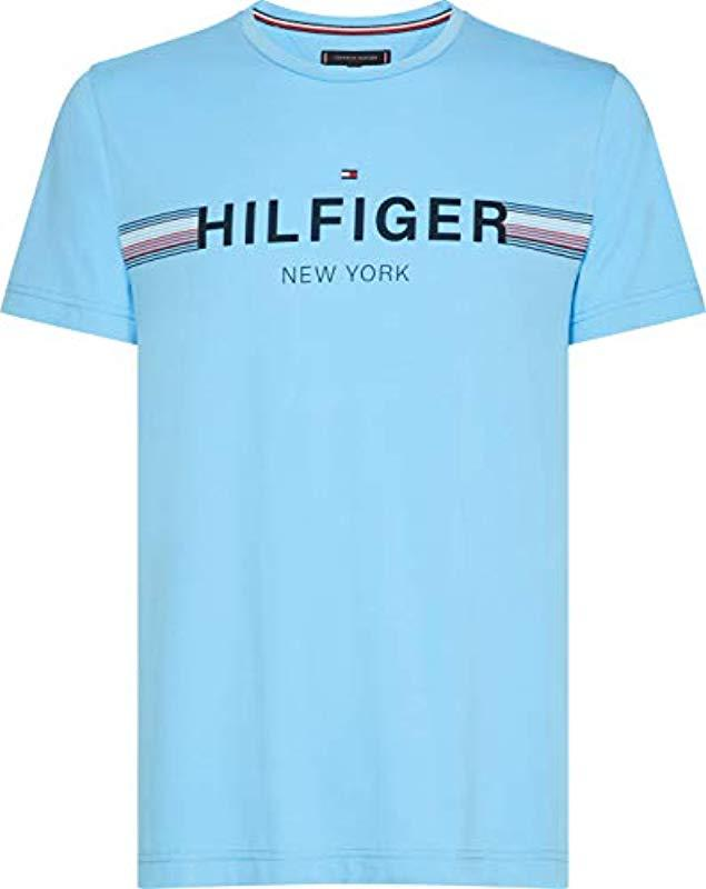 5fbc0285 Tommy Hilfiger 's Corp Flag Tee T in Blue for Men - Lyst