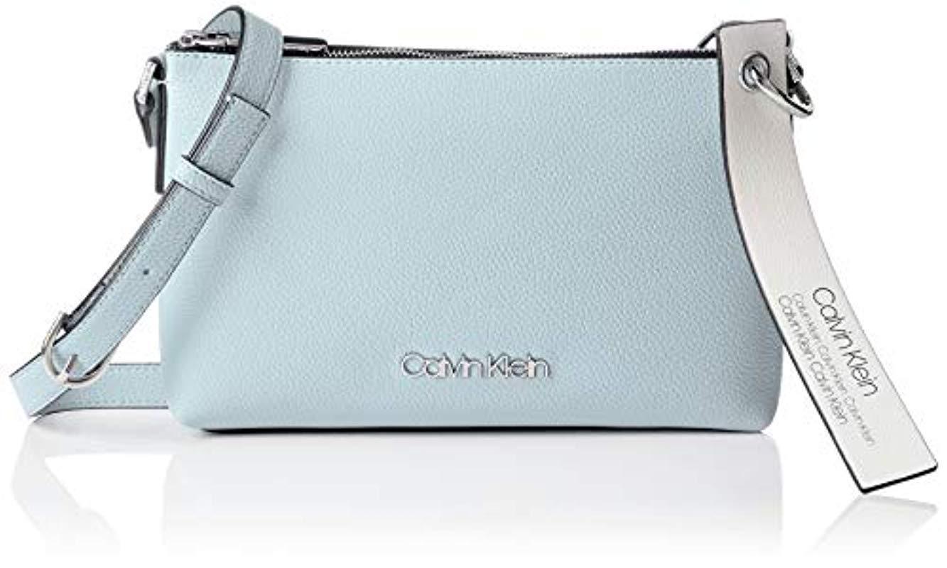 818a7ca16aaa3 Calvin Klein Neat Ew Crossbody Cross-body Bag in Blue - Lyst