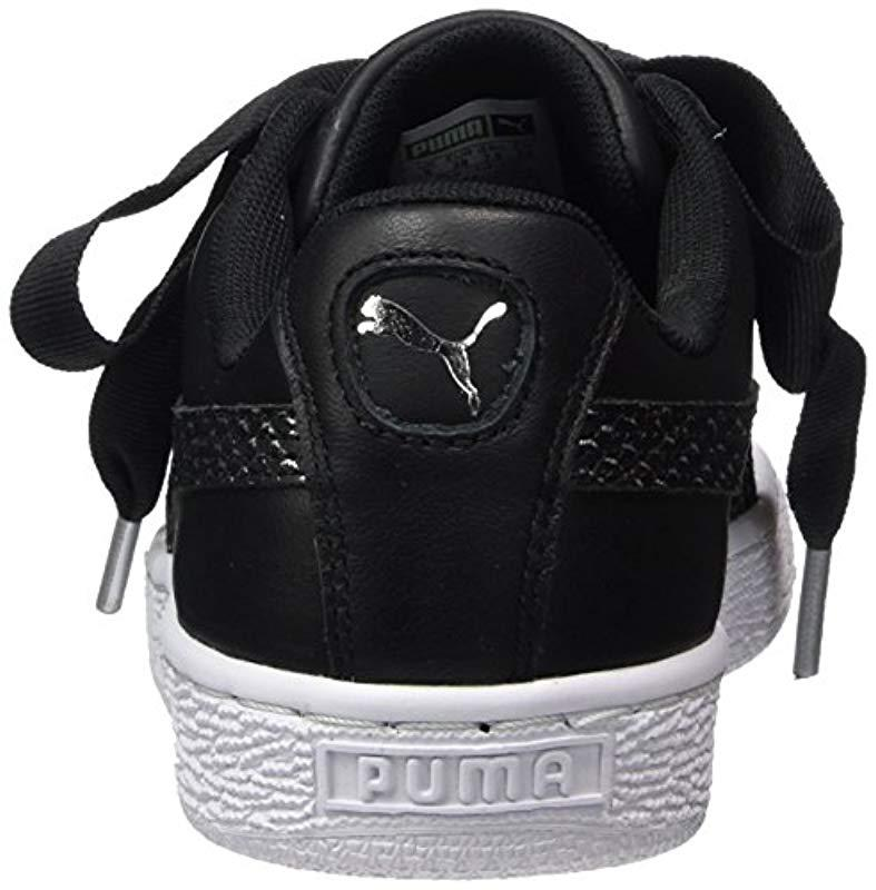 d71abef083c03 PUMA Basket Heart Oceanaire Wn's Trainers in Black - Lyst