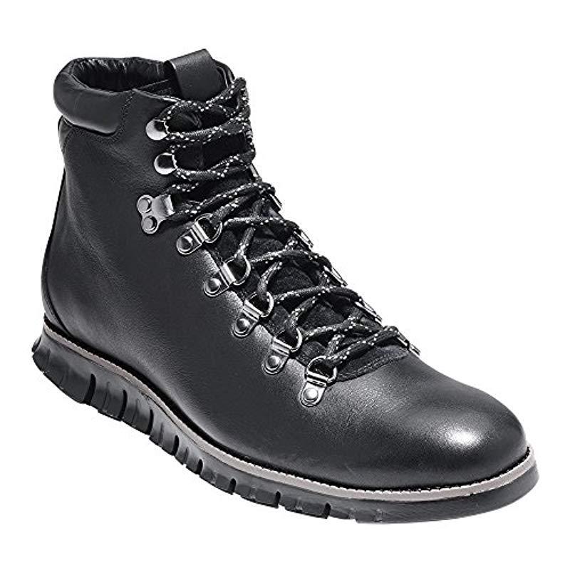 c7f4da227064 Lyst - Cole Haan Zerogrand Water Resistant Hiker Boot Grey-red in ...