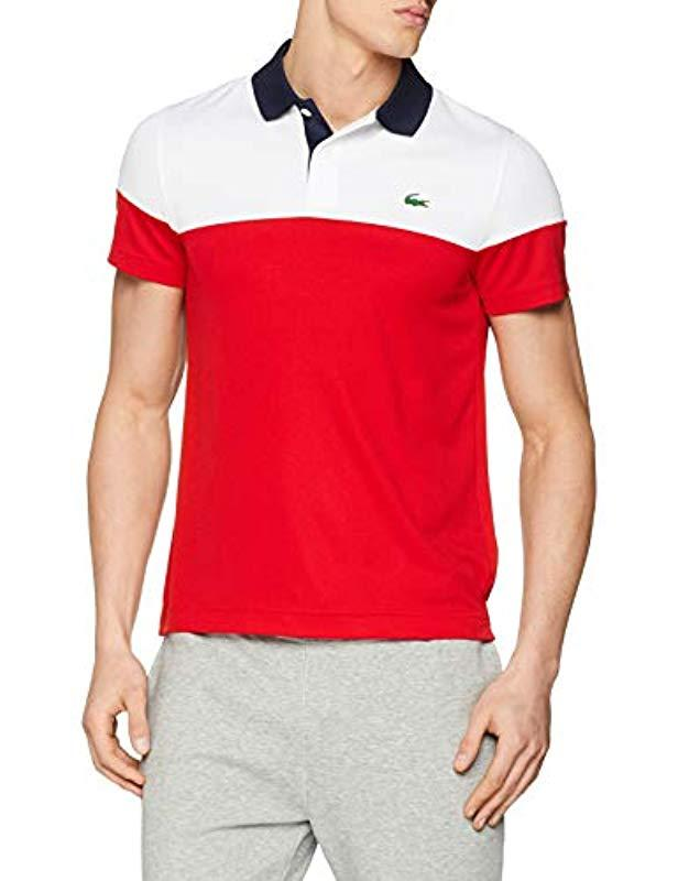7143e42aaae Lacoste Dh3399 Short Sleeve Polo Shirt in Red for Men - Save 9% - Lyst