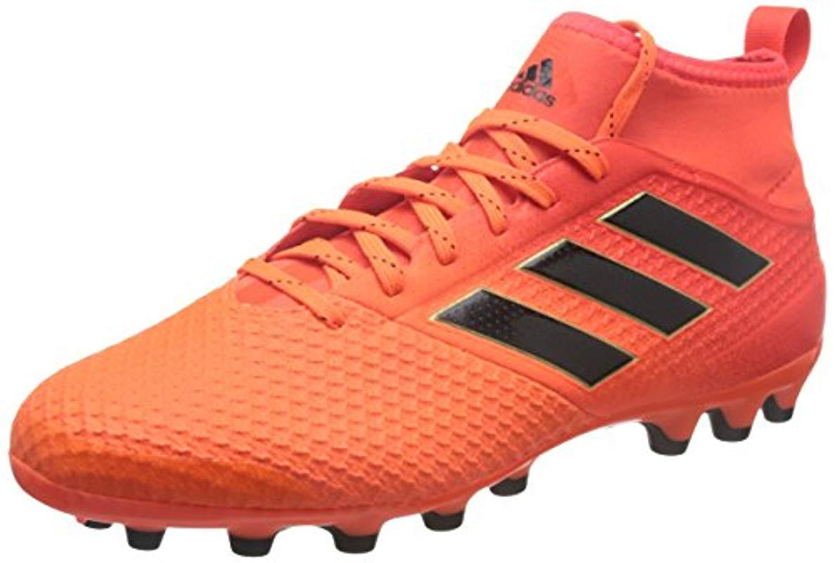 wholesale dealer 89ffd 2d78f adidas  s Ace 17.3 Ag Football Boots Black White in Orange for Men ...