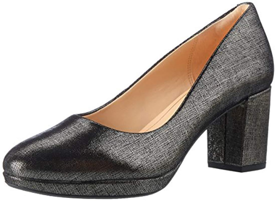 33a3115f6a046 Clarks Kelda Hope Closed Toe Heels Black in Black - Lyst