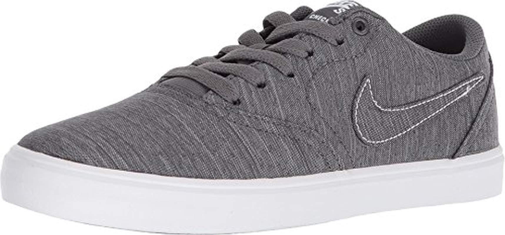 076c39e3102f Nike Wmns Sb Check Solar Cnvs Skateboarding Shoes in Gray - Lyst