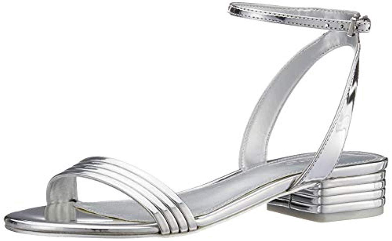 4d24718a71b ALDO Izzie Open Toe Sandals in Metallic - Lyst