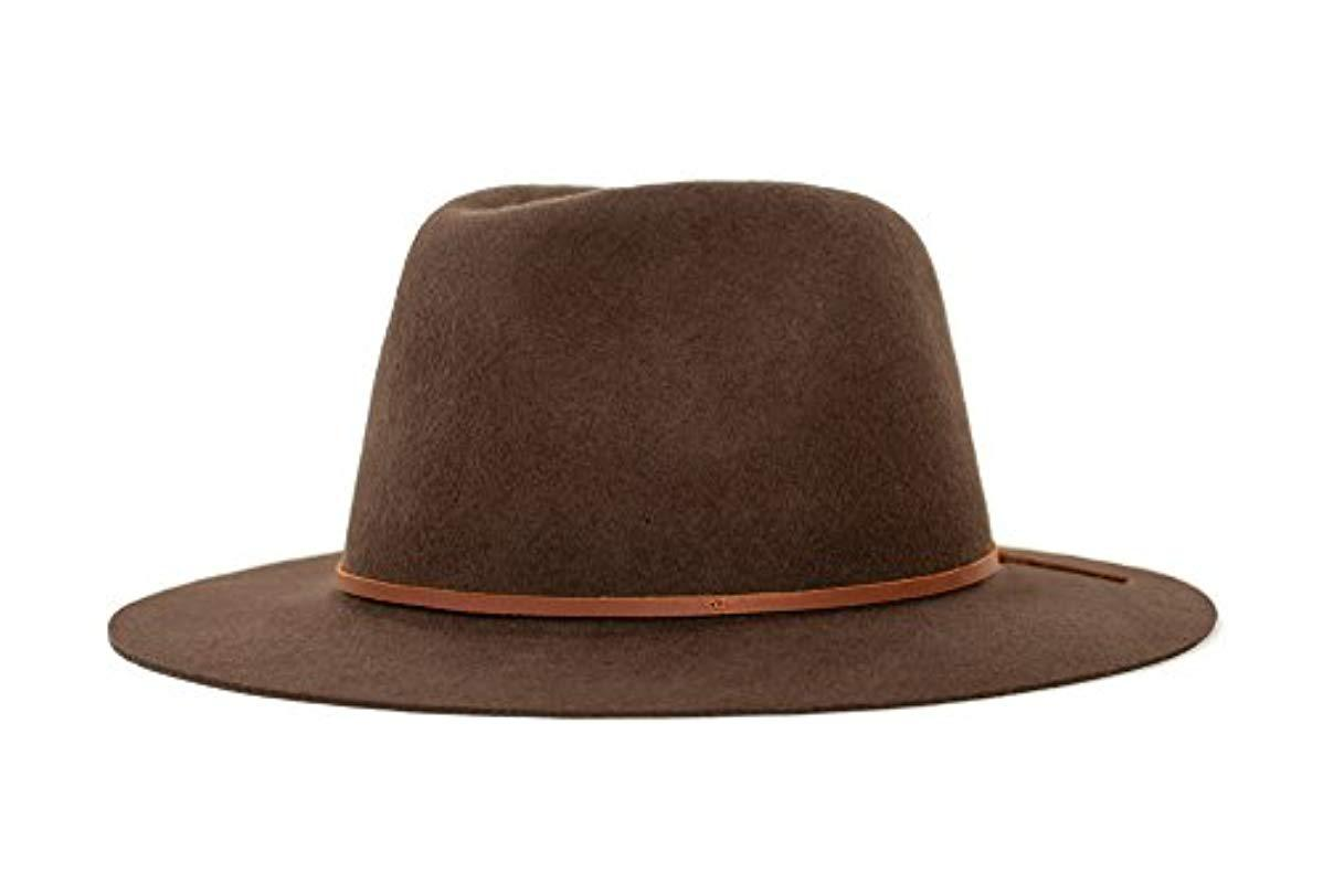 c409ce6af2b097 Lyst - Brixton Wesley Fedora Hat in Brown for Men
