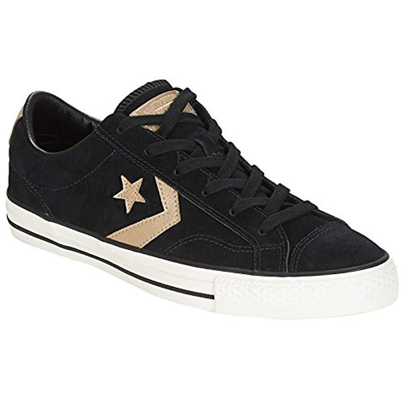 9db82239687a34 Converse Unisex Adults  Star Player Ox Almost White black Trainers ...