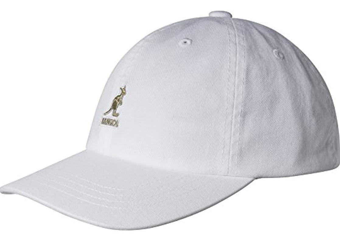 064c90dc851 Lyst - Kangol Washed Cotton Baseball Dad Cap in White for Men - Save ...