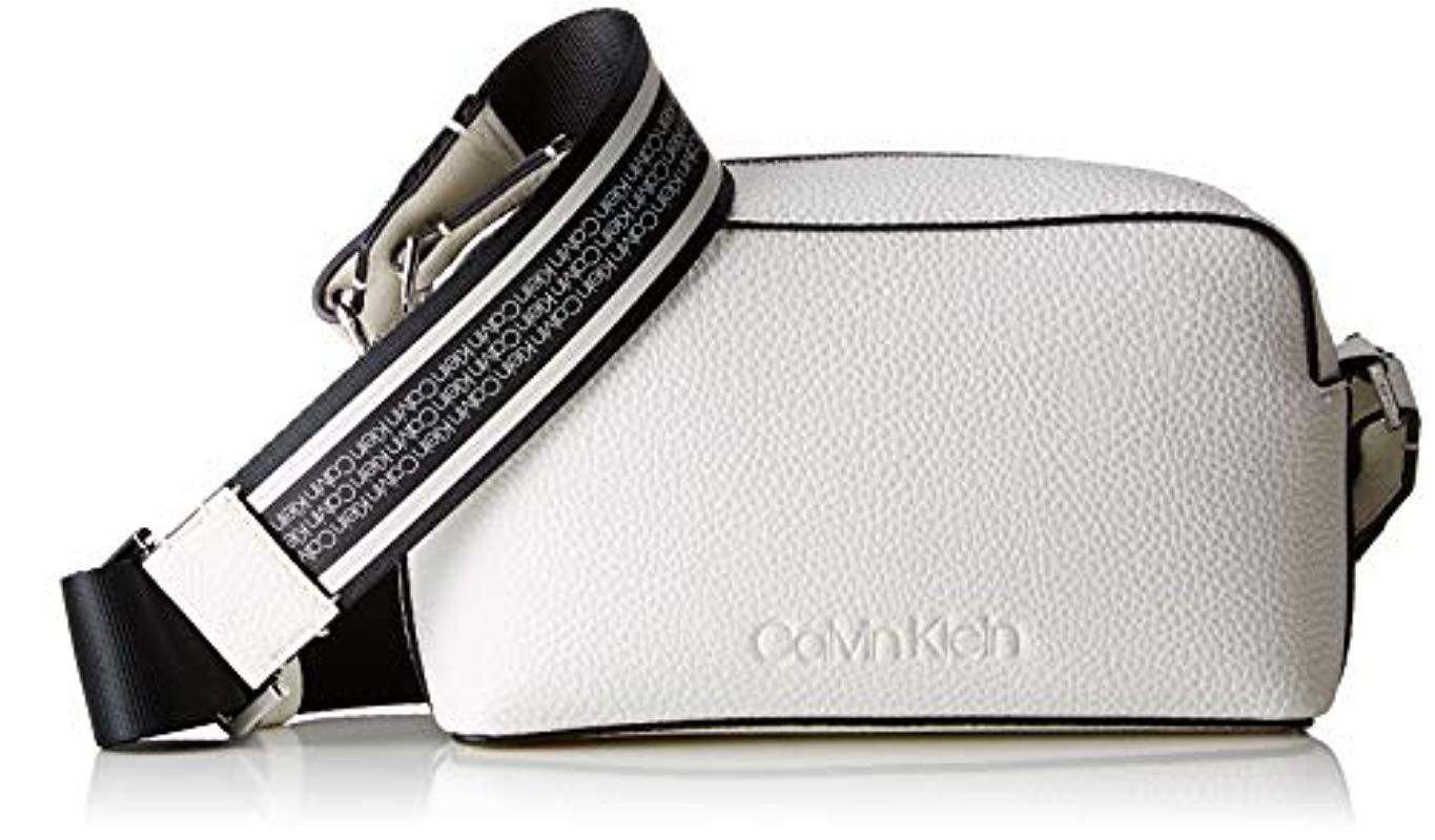 9adf3fa419dd66 Calvin Klein Race Crossbody Cross-body Bag in White - Lyst