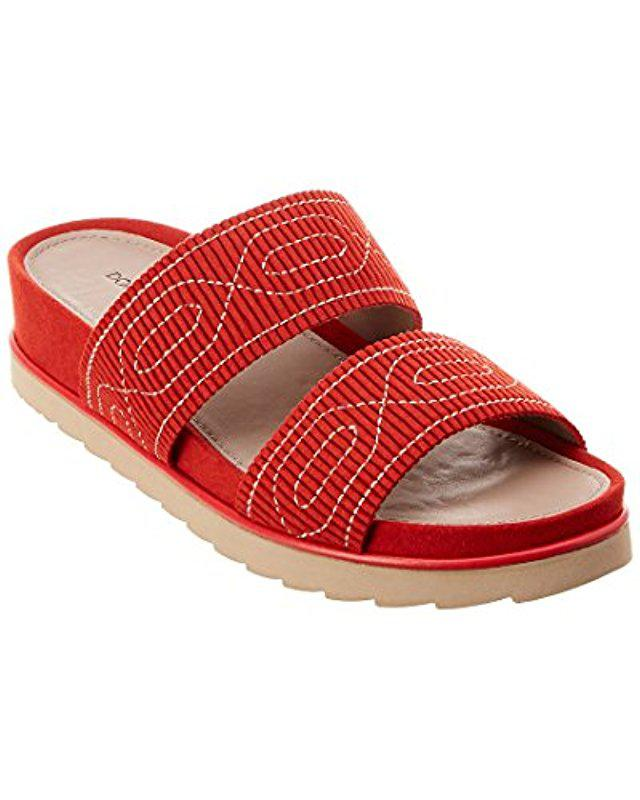 108b6ee66c4d Lyst - Donald J Pliner Cait Slide Sandal in Red - Save ...