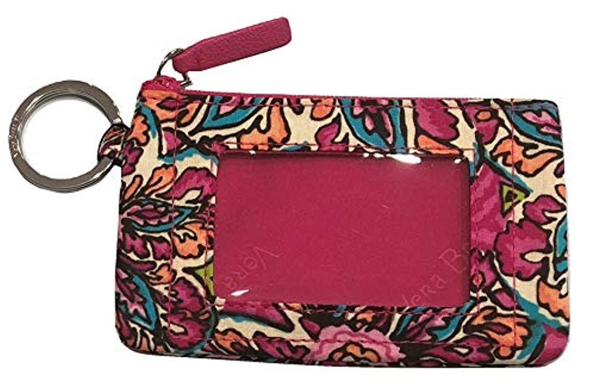 new concept 8fe48 f1383 Vera Bradley Zip Id Case, Signature Cotton in Red - Lyst