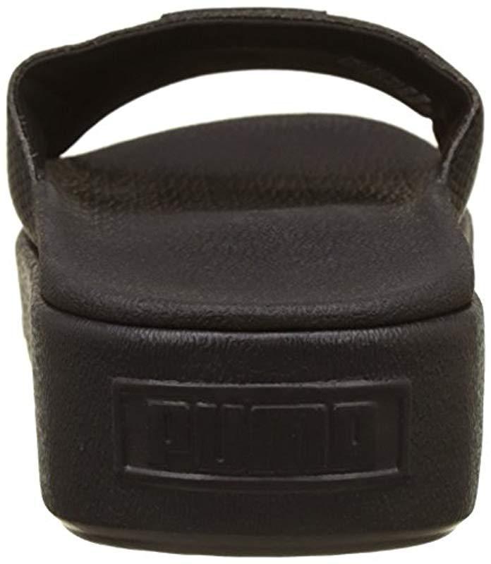 cf6dc50e7c4 PUMA - Black Platform Slide Wns Ep Sandals - Lyst. View fullscreen