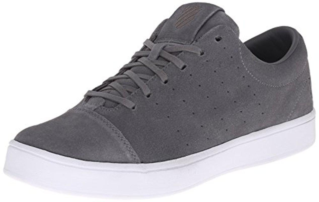 K-swiss. Men's Gray Washburn Sde Fashion Sneaker