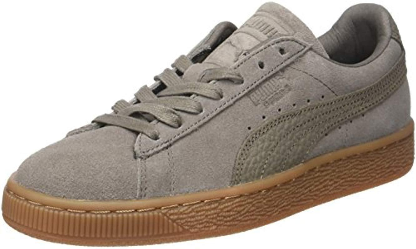 1bfd0dccd95 PUMA Unisex Adults  Suede Classic Natural Warmth Trainers in Gray ...