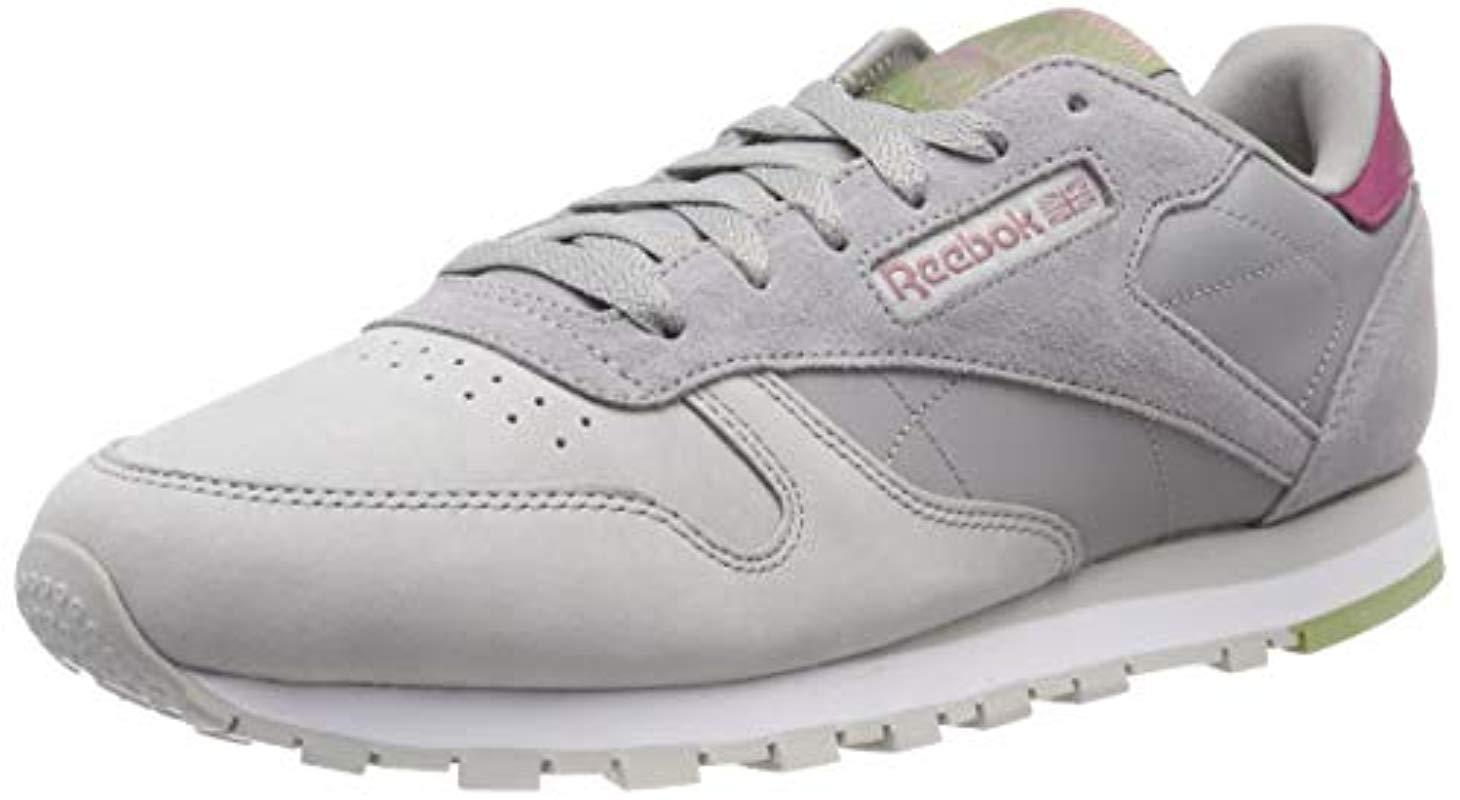 93cb8d76bd7 Reebok - Gray Cl Lthr Gymnastics Shoes Grey - Lyst. View fullscreen